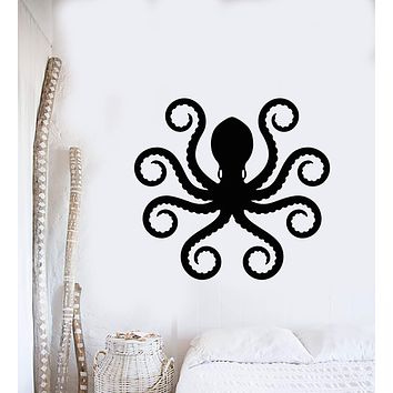 Vinyl Wall Decal Nautical Sea Monster Animal Octopus Tentacles Stickers (2931ig)