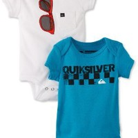 Quiksilver Baby-Boys Newborn Echo Beach, Blue/White, 3-6 Months