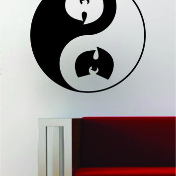 Wu Tang Clan Yin Yang Hip Hop Rap Quote Decal Sticker Wall Vinyl Art Music Lyrics Yoga