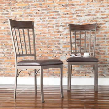 HomeVance 2-pc. Kimbie Dining Chair Set (Brown)