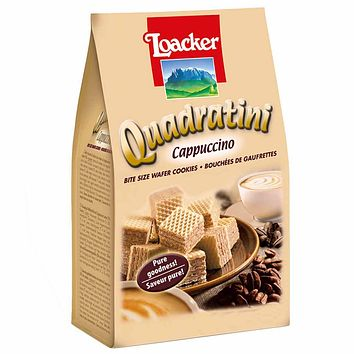Loacker Quadratini Cappuccino Wafer Cookies 7.7 oz