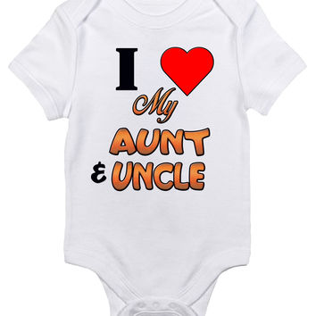 Baby Bodysuit - I Love My Aunt and Uncle