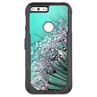 Dandelions, Water Droplets and Turquoise OtterBox Commuter Google Pixel XL Case