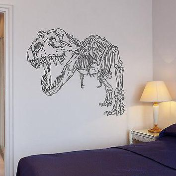 Wall Decal Dinosaur Reptile Skilet Archeology Bone Mural Vinyl Stickers Unique Gift (ed027)