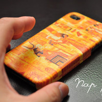 Apple iphone case for iphone iphone 3Gs iphone 4 iphone 4s iPhone 5 : Vintage Pharaoh of Egypt pattern