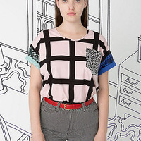 Nathalie Du Pasquier Unisex Gaza Mix Print Le New Big Pocket T-Shirt