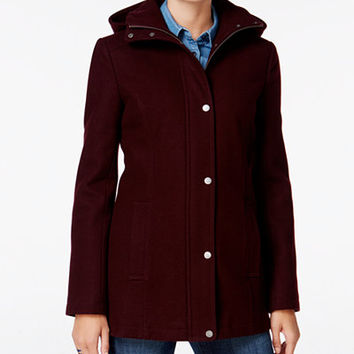 Tommy Hilfiger Hooded Peacoat, Only at Macy's - Coats - Women - Macy's