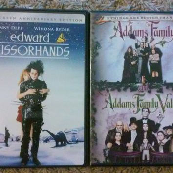 Addams Family/Addams Family Values, Edward Scissorhands DVDs