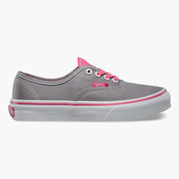 Vans Polka Dots Authentic Girls Shoes Frost Gray/Hot Pink  In Sizes