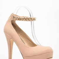 Bamboo Nude Velvet Chain Detailed Pumps @ Cicihot Heel Shoes online store sales:Stiletto Heel Shoes,High Heel Pumps,Womens High Heel Shoes,Prom Shoes,Summer Shoes,Spring Shoes,Spool Heel,Womens Dress Shoes,Prom Heels,Prom Pumps,High Heel Sandals