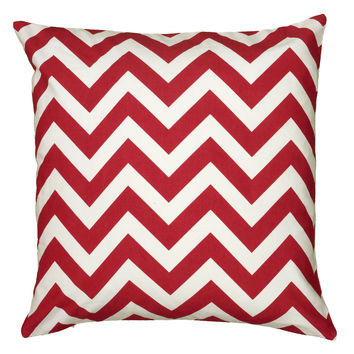 "Printed Red Pillow Cover (18"" x 18"")"