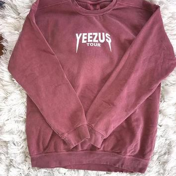 Yeezus Tour Unisex Kanye West Yeezy Saint Pablo Tour Crewneck Sweatshirt Merch