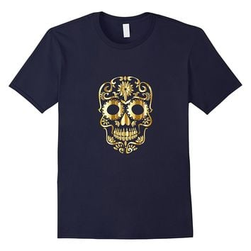Graphic Metal Sugar Skull Halloween t-shirt