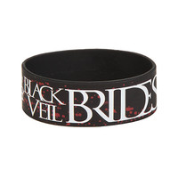 Black Veil Brides Group Photo Rubber Bracelet