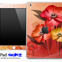 Fall Color Flowers Skin for the iPad Mini, iPad 1st, 2nd, 3rd or 4th Generation