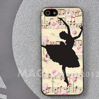 Ballet girl iphone case, iphone cover, iPhone 4/4s/5 case, Samsung Galaxy S3/S4 case, Hard phone case for iphone 4, 5, galaxy s3, s4
