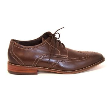 Florsheim Castellano Wing - Brown Leather Wing-Tip Saddle Oxford