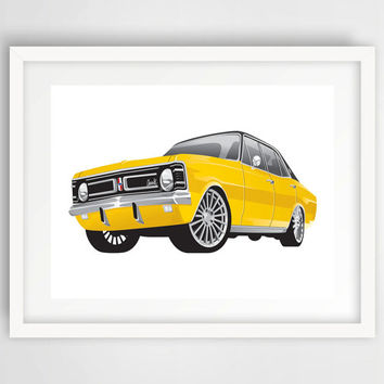 Chevrolet Classic American Muscle Car Chevy Print, Wall Print, Color, Digital, Download, Printable, Modern Art