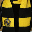 Harry Potter Hufflepuff knit scarf with crest patch and tassels