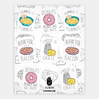 Cute Snack Pun Stickers
