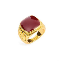 High Quality 18K Gold Plated Men's Single Rings with Square 1pc