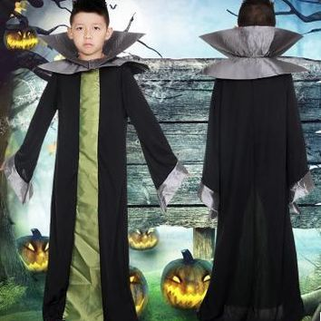 space alien costume for boys halloween alien costume alien warrior costume halloween robe for children vampire robe kids