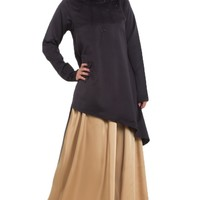Beaded Black Chiffon Oblong Wrap Hijab | Islamic hijabs | Islamic scarves at Artizara.com