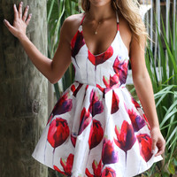 Red Tulip Meadows Dress