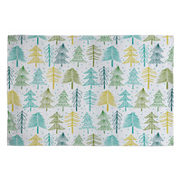 Heather Dutton Oh Christmas Tree Frost Woven Rug