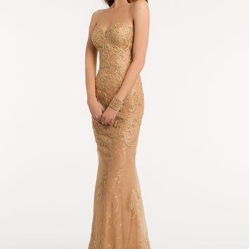 Metallic Dress with Lace Appliques from Camille La Vie and Group USA