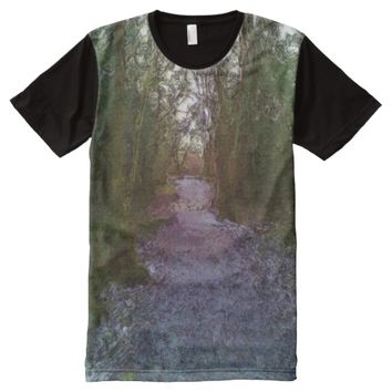 Forest path All-Over-Print T-Shirt