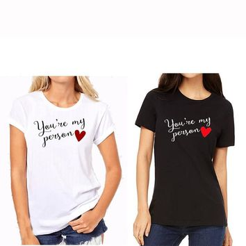 EnjoytheSpirit BFF Gift Birthday Shirts Funny Women's Clothing Best Friend Shirts Black and White 100% Cotton Casual Tee