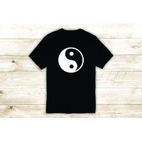 Yin Yang T-Shirt Tee Shirt Vinyl Heat Press Custom Inspirational Quote Teen Yoga Balance Meditate