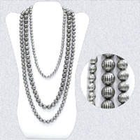 Trendy Silver Bead Fashion Necklace