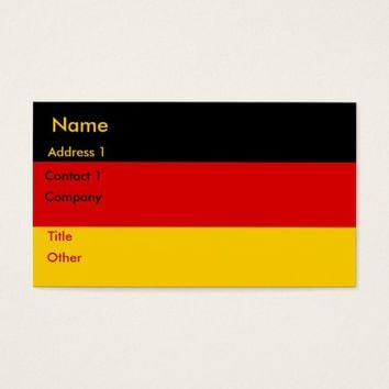 Business Card with Flag of Germany