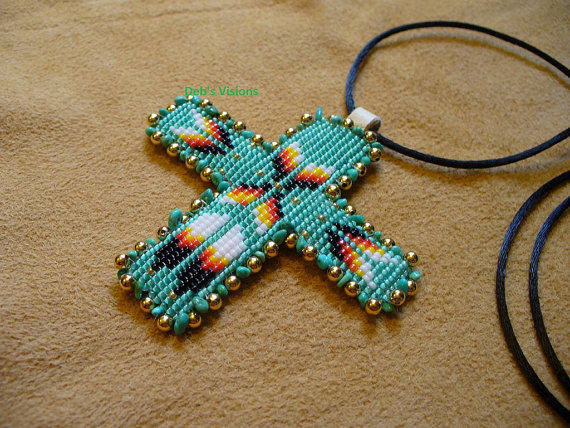 Square stitch beaded native american from debs visions beadwork