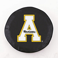 Holland Bar Stool Appalachian State Tire Cover in Black