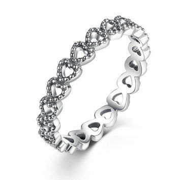 Heart to Heart Silver Plated Ring