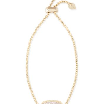 Elaina Gold Chain Bracelet in White Pearl | Kendra Scott