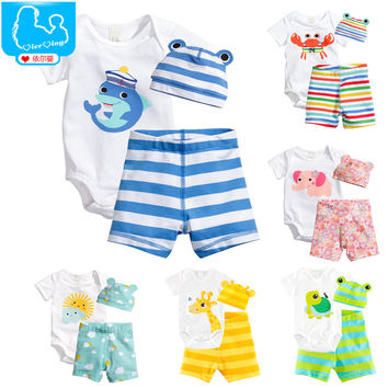 3Pcs Baby Girls Clothing Sets