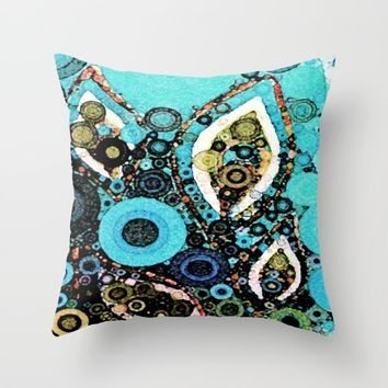 :: Paisley Peacock :: Throw Pillow by :: GaleStorm Artworks ::