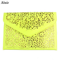 Xiniu Lady Bag Hollow Out Haps Women Envelope Clutch Shoulder Messenger Bag Purse Handbag #5