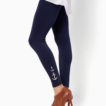 Anchors Aweigh Leggings | Fashion Apparel & Legwear - Nautical Chic | charming charlie