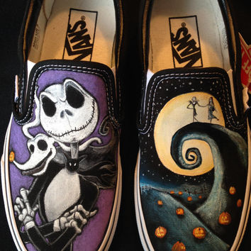 Disney's Nightmare Before Christmas - Hand painted Vans, Toms, Converse