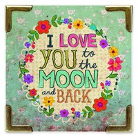 Love  You  To  The  Moon  Corner  Magnet  From  Natural  Life