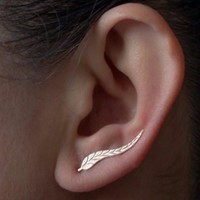 Vintage Jewelry -Feather stud earrings