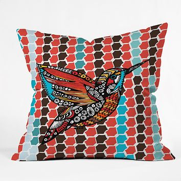 Julia Da Rocha Humm Throw Pillow