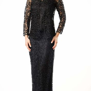 Soulmates - C12551 Signature Crochet Three Pieces Evening Gown