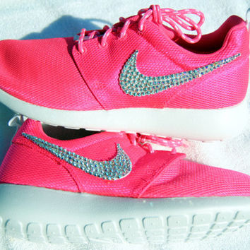 Preschool Nike Roshe Run- Pink from Glitzland on Etsy  041b6da6c8c2