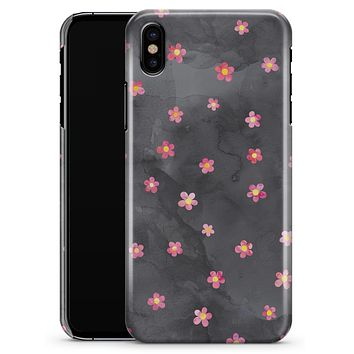Cute Watercolor Flowers over Black - iPhone X Clipit Case